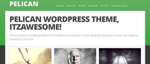 Pelican WordPress Theme