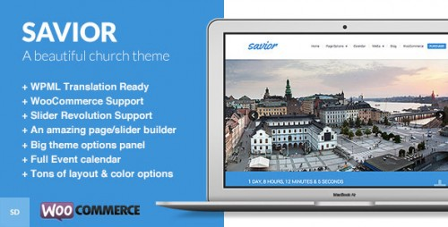 Savior - Powerful WordPress Theme for Churches