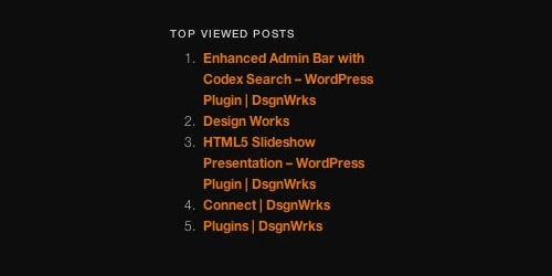 Google Analytics Top Content Widget