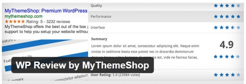WP Review by MyThemeShop