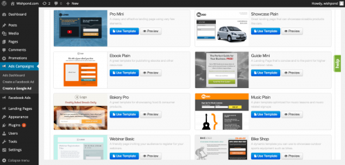 Landing Pages Builder