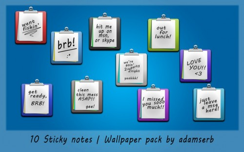 10 Sticky Notes Design