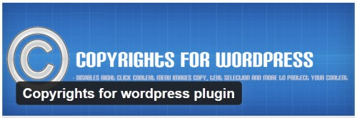 Copyrights for WordPress