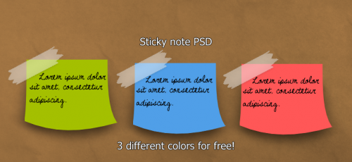 Sticky notes PSD