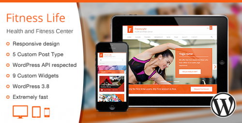 Fitness Life - Gym, Fitness WordPress Theme