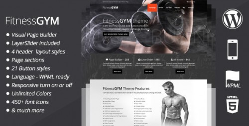 FitnessGYM - WordPress Sport, Fitness Theme