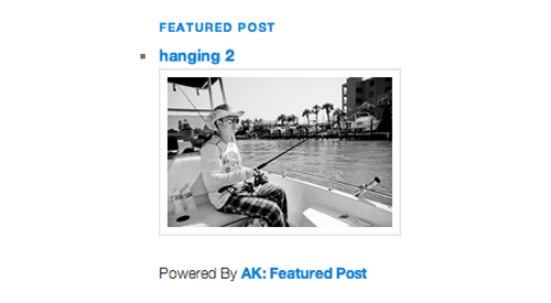 AK Featured Post Widget