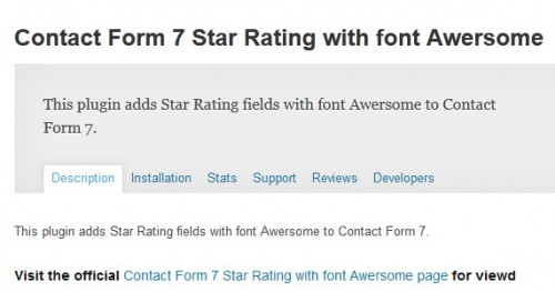 Contact Form 7 Star Rating with font Awersome