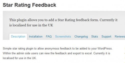 Star Rating Feedback
