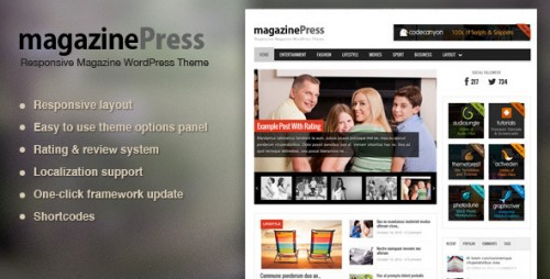 MagazinePress - WordPress Magazine Theme