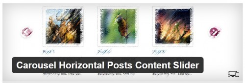 Carousel Horizontal Posts Content Slider