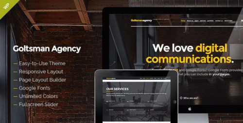 Goltsman Agency - One Page WordPress Theme