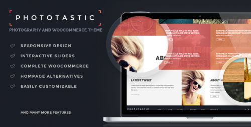 Phototastic - WordPress Portfolio Photography Theme