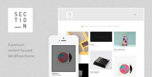 Section - Responsive Portfolio Theme
