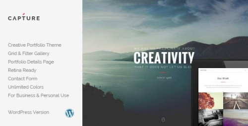Capture - Creative Portfolio WordPress Theme