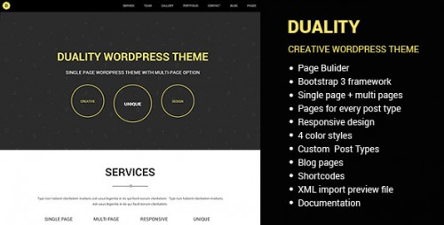 Duality - Multi Page Single Page WordPress Theme