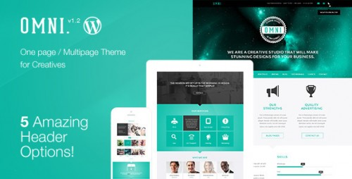 Omni - Multipage WordPress Parallax Flat Theme