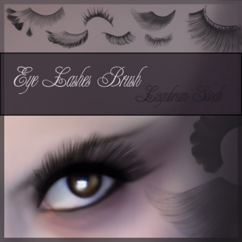 10 Free Eye Lashes Brushes for Photoshop