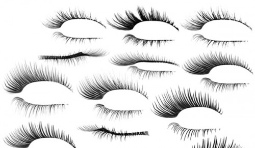 12 Eye Lashes Brushes for Free Download