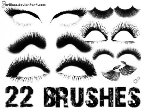 22 Cool Eyelashes Brushes for Photoshop