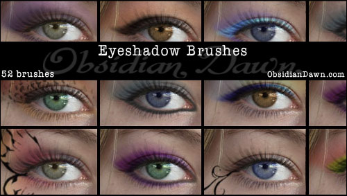 52 Free Eyeshadow Photoshop Brushes