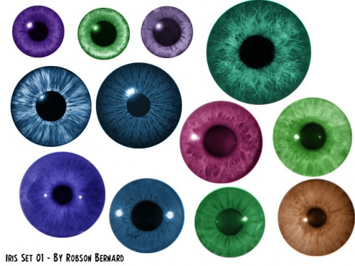 Free Photoshop Iris Brushes Set