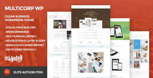 Multicorp WP - Clean Business WordPress Theme