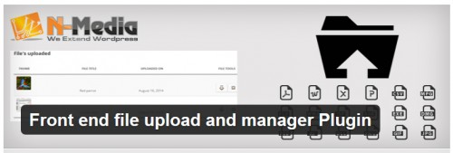 Front End File Upload and Manager Plugin