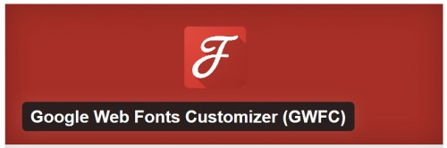Google Web Fonts Customizer