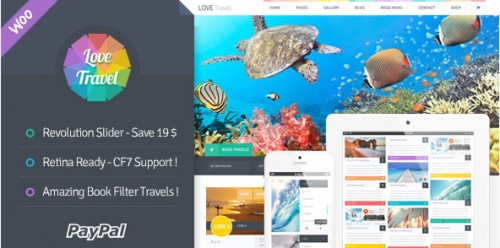 Love Travel - Creative Travel Agency WordPress Theme