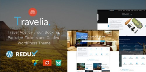 Travel Agen Travelia WordPress Theme