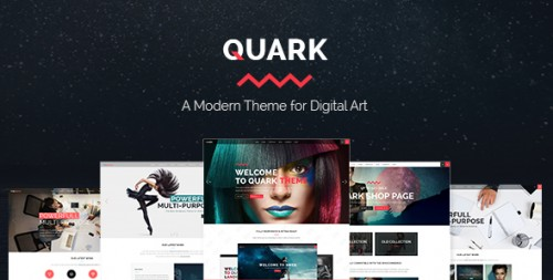 Quark - A Modern Theme for Digital Art