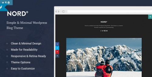 Nord - Simple and Minimal Readable Blog Theme