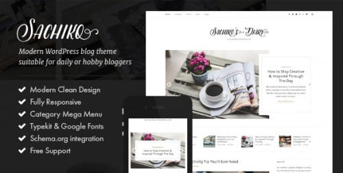 Sachiko - Responsive WordPress Blog Theme