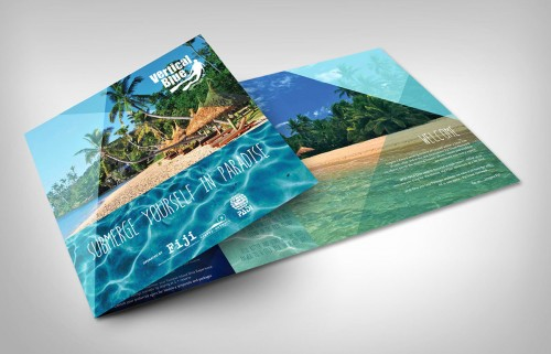 Vertical Blue Brochure