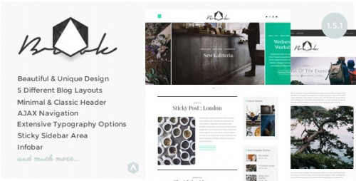 Brook - Light & Responsive WordPress Blog Theme
