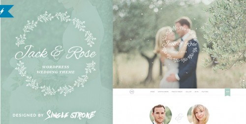 Jack & Rose - Whimsical WordPress Wedding Theme