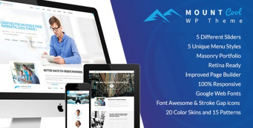 Mountcool - One Page Responsive WordPress Theme
