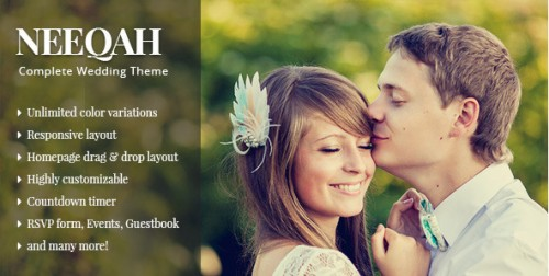 Neeqah - Responsive Wedding WordPress Theme