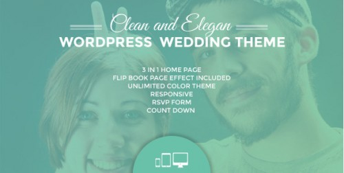 Ulemulem - Clean Wedding Invitation WordPress Theme
