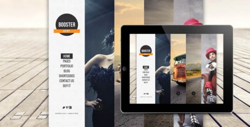 Boosterius - Responsive One Page Slide WordPress Theme