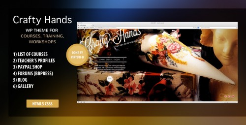 Crafty Hands Courses, Training, Workshops WP Theme