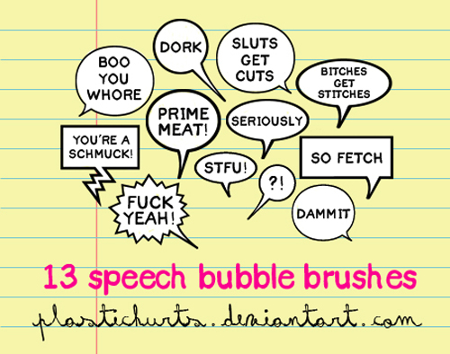 13 Creative Free Speech Bubble Brushes