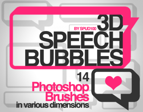 14 Great 3D Speech Bubble Brushes for Designers