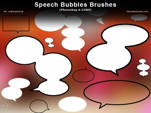 17 Cool Speech Bubbles Photoshop Brushes