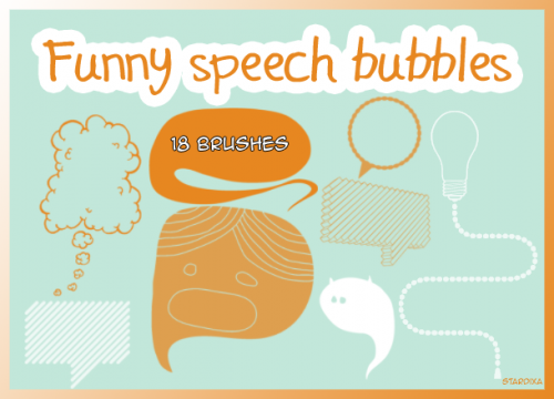18 Free Photoshop Funny Speech Bubbles