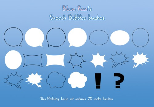 20 Beautiful Speech Bubbles Brushes for Free Download