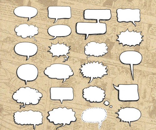 30 New Hand Drawn Speech Bubble Brushes