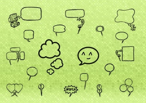 92 Free Speech Bubbles for Photoshop