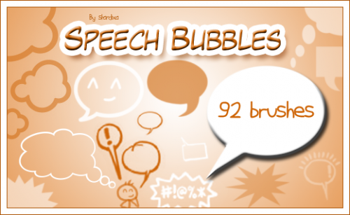 92 Speech Bubbles Brushes for Free Download